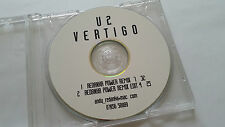 """U2 """"Vertigo Redanka Remix"""" RARE 2trk Acetate PROMO CD"""