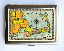 Cape Cod Cigarette Case Wallet Business Card Holder id case atlas map