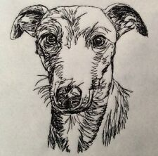 Completed Embroidery Whippet Dog