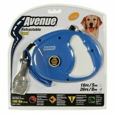 Avenue Retractable 26' Corded Leash for Dogs Large Blue