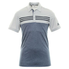 Adidas Golf Heather bloque Polo Camisa Gris Dos/Heather DZ8520 -! nuevo!