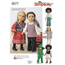 Simplicity Sewing Pattern 8577 18 Inch Doll 1970s Vintage Outfits