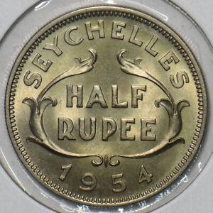 Seychelles 1954 1/2 Rupee 297361 combine shipping