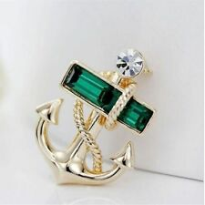 Fashion Chic Suit Brooch Gold Anchor Cruises Brooches Women Charm Jewelry