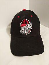Captivating Headgear Licensed Georgia Bulldog Adjustable Black Cap Embroidered