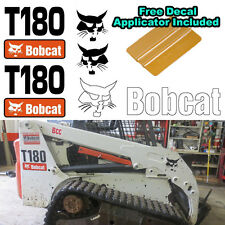 Bobcat T180 Skid Steer Set Vinyl Decal Sticker 5 PC SET + FREE DECAL APPLICATOR