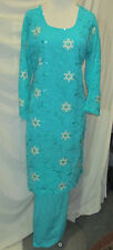 beautiful full embroidery chiffon salwar kameez Size XL 4