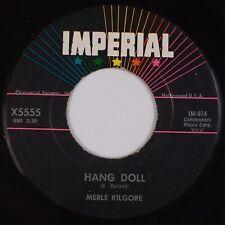 MERLE KILGORE: Hang Doll / Tom Dooley Jr US Imperial X5555 '58 Rockabilly 45
