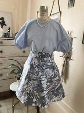 COS organza geometric pattern mini skirt XS-S