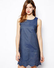 FCUK French Connection @ ASOS Blue Morgana Light Denim Summer Dress Size 10
