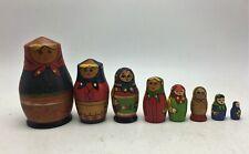 lot de 8 anciennes matriochkas poupees russes (depareillées)
