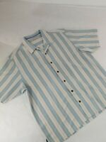 Tommy Bahama Mens Sz XL Blue Green White Short Sleeve Hawaiian Shirt 100% Silk