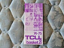 1974-75 Tcu Horned Frogs Basketball Media Guide Yearbook 1975 Program Book Ad