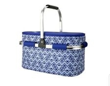 Igloo Coolbag Party Basket plus 4 Piece Storage blue triangles design