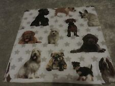 Dogs dog puppy puppies crafts fabric remnant material sewing piece 60x60cm