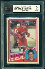 1984 85 OPC #67 STEVE YZERMAN RC ROOKIE CARD KSA 9 MINT RED WINGS