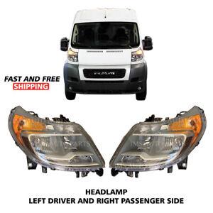 Ram ProMaster 1500 2500 3500 Headlight Head Lamp Assembly Pair 2014-2019