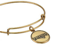 Alex and Ani New England Patriots Logo Gold Expandable Wire Bangle Bracelet