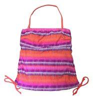 So Size XS S Purple Orange Strapless Bandeau Halter Tankini Halter Swim Top NEW