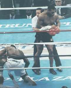 MIKE TYSON vs MIKE SPINKS 8X10 PHOTO BOXING PICTURE