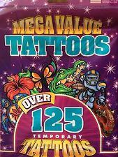 Temporary Tattoos Fun For Kids - Over 125 Mega Value Tattoos