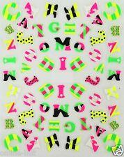One Stroke Sticker Neon, Buchstaben, Tattoo, Aufkleber  Nr.1704