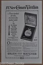 1923 GRUEN Pocket Watch advertisement, Verithin A435 Pocket Watch