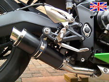 Triumph Street Triple 13-16 Demon Slash Satin Black Stubby Race Exhaust End Can