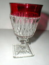 Indiana Glass Ruby Flash MT MOUNT VERNON Goblet