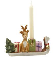 Goebel Die Weihnachtsfabrik Rentier mit Schlitten Im Advent Kerzenhalter Wichtel