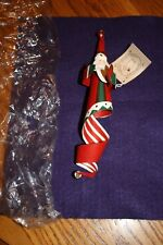 Midwest Of Cannon Falls Metal Santa Ornament With Bell New In Package
