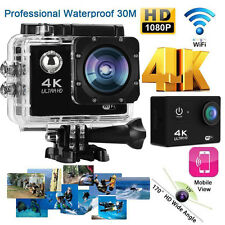 4K 2'' Ultra HD 1080P Sports WiFi Cam Action Camera DV Video Recorder 16MP UK