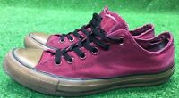 Converse Chuck Taylor All Star Low Top Burgundy Maroon Red Size 7.5