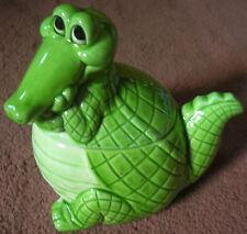 Norcrest Vintage Rare CROCODILE Alligator Jam Jar Container Figure Japan rare