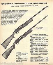 1973 STOEGER Model 7 12 & 20 gauge Pump-Action SHOTGUN AD w/original prices