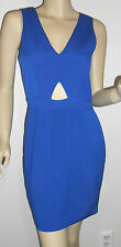 NAVEN DRESS *NWT!* V NECK CUT OUT DRESS IN VEGAS BLUE ~SIZE 2 ~ 1105-A-51-VBLU