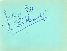 "ORIGINAL AUTOGRAPH ""THE THREE MONARCHS"" MUSIC GROUP 1951 HALL SIGNED ALBUM PAGE"