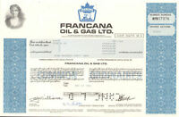 Francana Oil & Gas > Canada stock certificate share