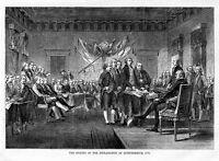 DECLARATION OF INDEPENDENCE SIGNING OF 1776 BEN FRANKLIN JOHN HANCOCK JEFFERSON