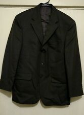 Stafford Three Button Pinstriped Wool Suit Jacket Size 38S and Pants Size 32W