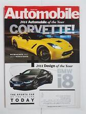 Automobile Magazine Jan 2014 BMW i8 & 535d - Corvette - Aston Martin V12 Vantage