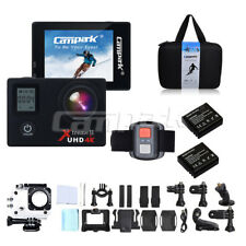 """Campark ACT76 Sports Action Camera 4K 16MP WiFi 2"""" Dual LCD 170° Remote Control"""