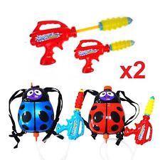Set of 2 Ladybird 2l Backpack Water Gun Wet Toys Cannon Blaster Garden Kids Fun