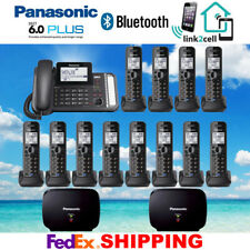 PANASONIC KX-TG9582B 2-LINE 1 CORDED - 12 CORDLESS PHONES - 2 REPEATERS - NEW