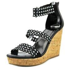 Sandalias y chanclas de mujer planos de color principal negro talla 38.5
