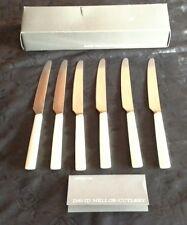 David Mellor Pride boxed set of 6 Dessert knives 18.6 cm