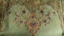 ancienne minaudiere pochette anglaise en broderie et soie art déco