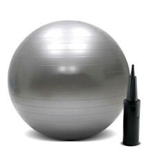 New 75 cm Silver Sporting Goods Exercise Yoga Balls Fitness Equipment With Pump