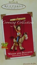 2002 Hallmark Woody and Bullseye Toy Story Disney Ornament Pixar Woody's Roundup