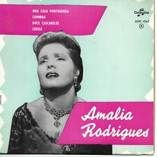 "Amalia Rodrigues (Portuguese singer) Una Casa Portuguesa French 45 7"" EP France"